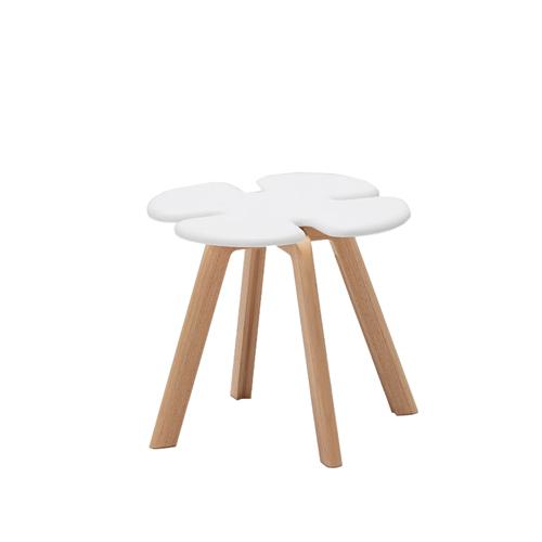 [ポイント最大42倍]天童木工CLOVERスツールスモールホワイトT-3219MD-WA【P10】【10P04Aug18】