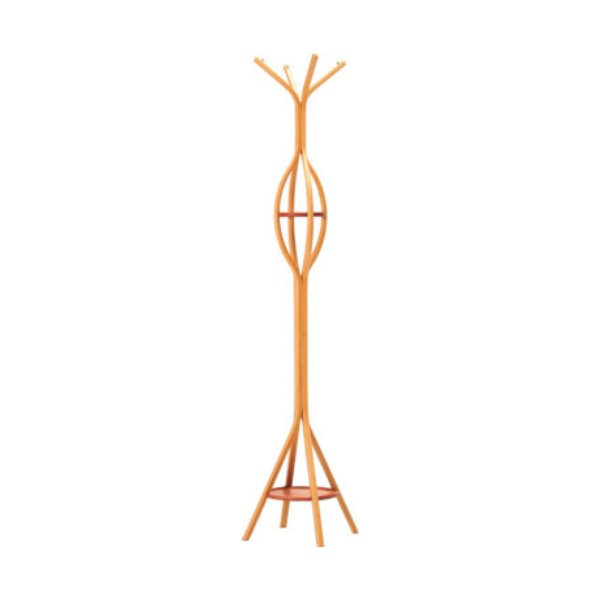 天童木工コートハンガーF-4115SG-NTスギ柾目圧密成形(ナチュラル)W494×D494×H1750mm【P10】【10P04Aug18】