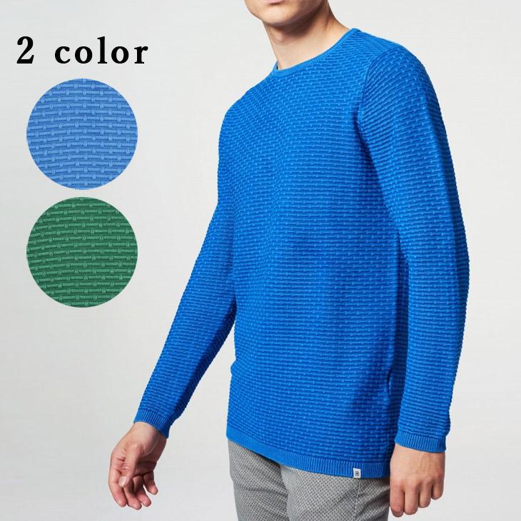 DSTREZZED (ディストレス) クルーネック ニット コットンニット ジャガード トップス セーター 冬物 メンズ