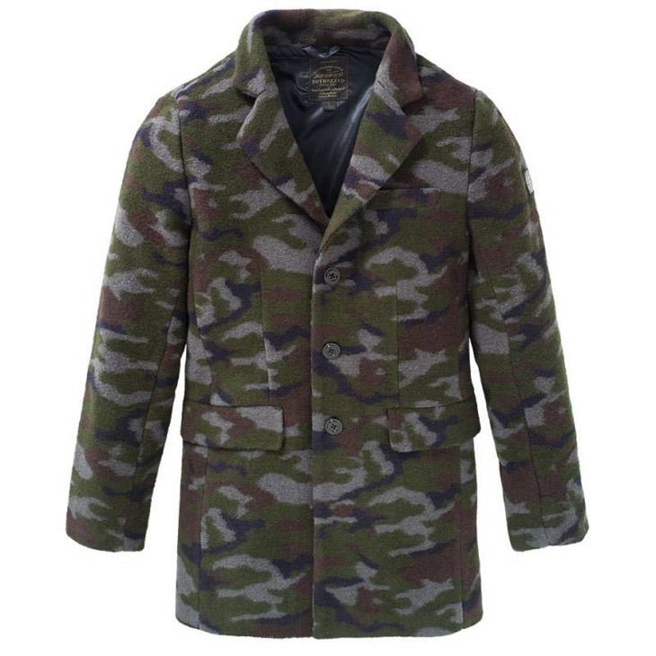 チェスターコート 迷彩 ウールコートアウター 入手困難 コート 通信販売 ジャケット メンズ DSTREZZED 冬物 ディストレス Boucle wool Coat