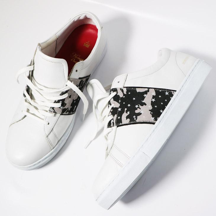 Honour Ovation(アナーオベーション) スニーカー 靴 レザー カモ 星 4040