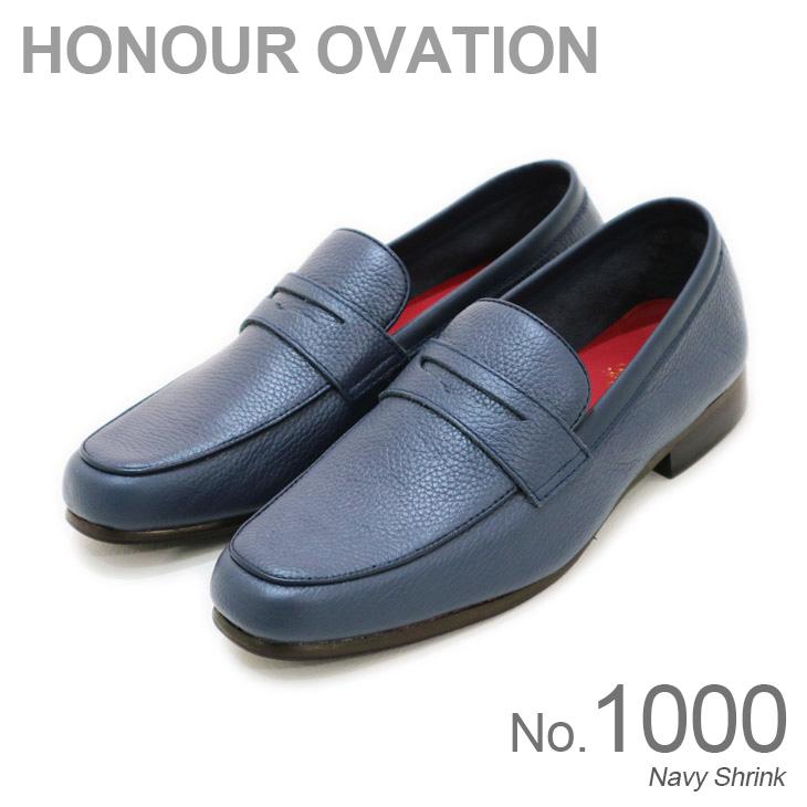 レザー 価格 交渉 送料無料 本革 シューズ コインローファー ローファー アナーオベーション 豪華な Honour No.1000 Ovation