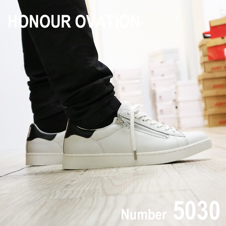 アナーオベーション(Honour Ovation) レザースリッポン メンズ スリッポン レザースニーカー 本革 紳士靴 [5080]