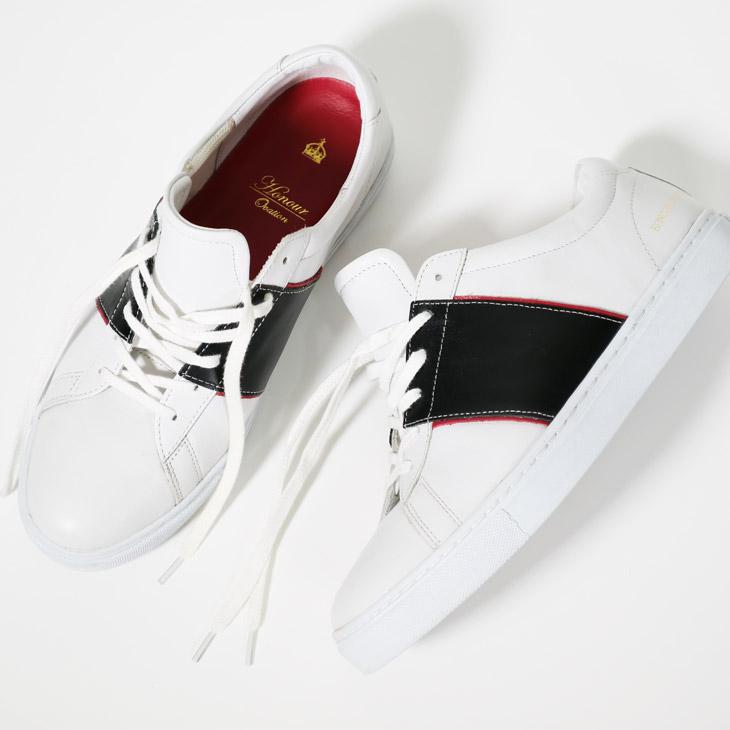 アナーオベーション(Honour Ovation) スニーカー 靴 レザー ブラック/レッド 4040