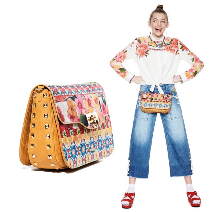 デシグアル ショルダー バッグ 花柄 かばん 鞄 Little ポシェット 百貨店 Amorgo 返品交換不可 Desigual レディース