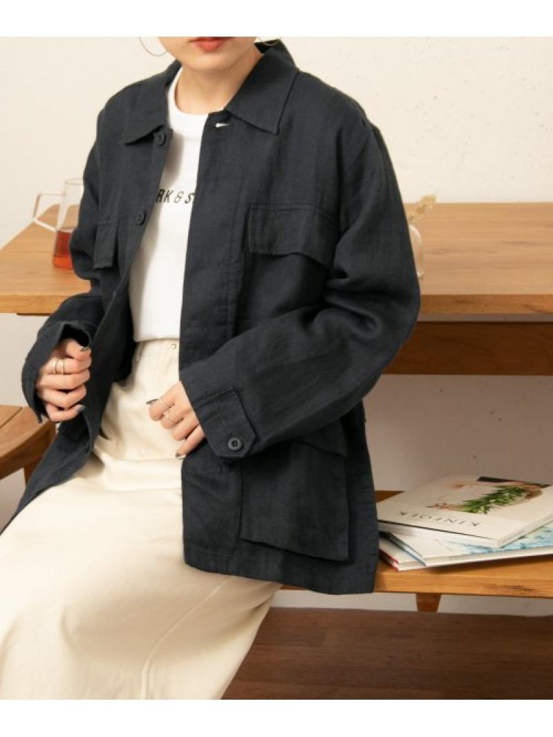 [Rakuten Fashion]FORK&SPOONリネンファティーグジャケット DOORS アーバンリサーチドアーズ コート/ジャケット ミリタリージャケット グレー ベージュ【送料無料】