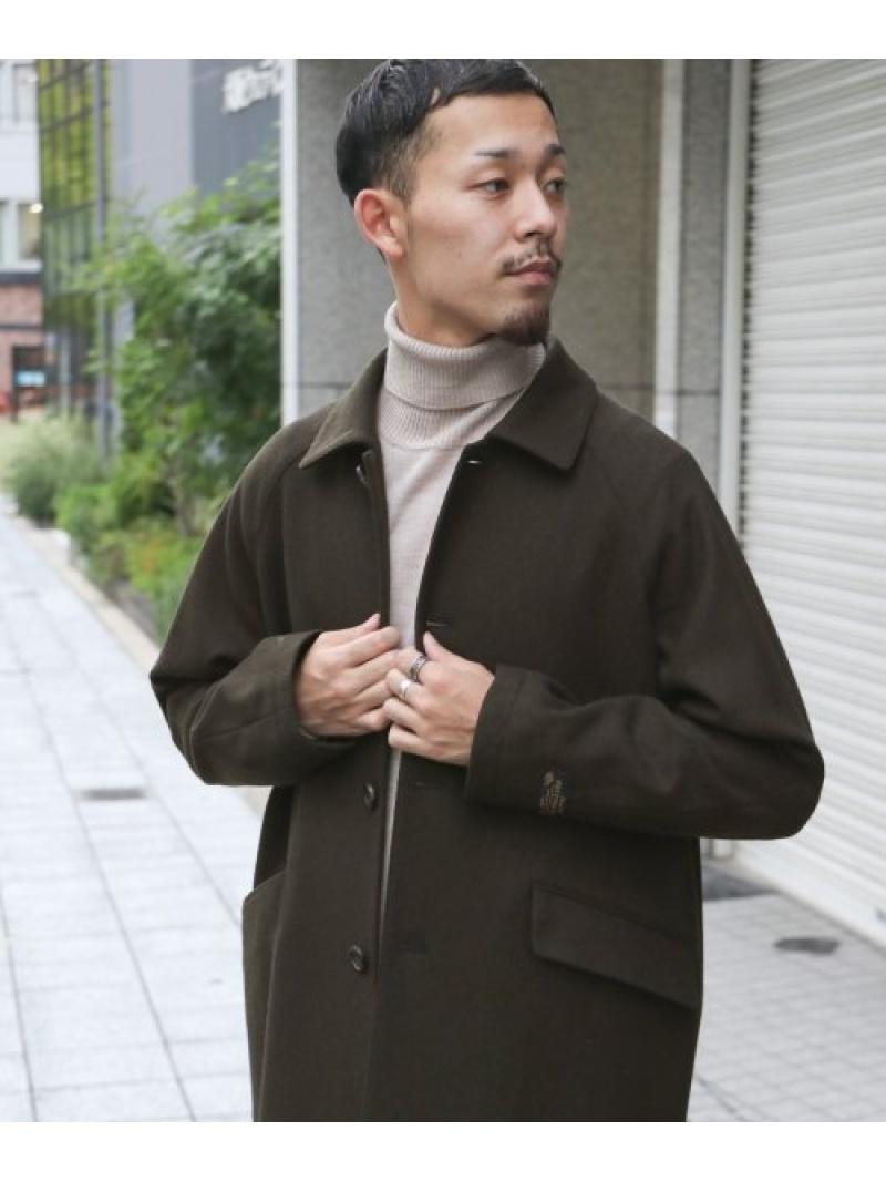 [Rakuten Fashion]ウールステンカラーコート DOORS アーバンリサーチドアーズ コート/ジャケット ステンカラーコート ブラウン ネイビー【送料無料】