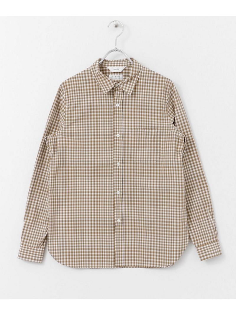 [Rakuten BRAND AVENUE]UNIFY Gingham Regular Shirts DOORS アーバンリサーチドアーズ シャツ/ブラウス【送料無料】