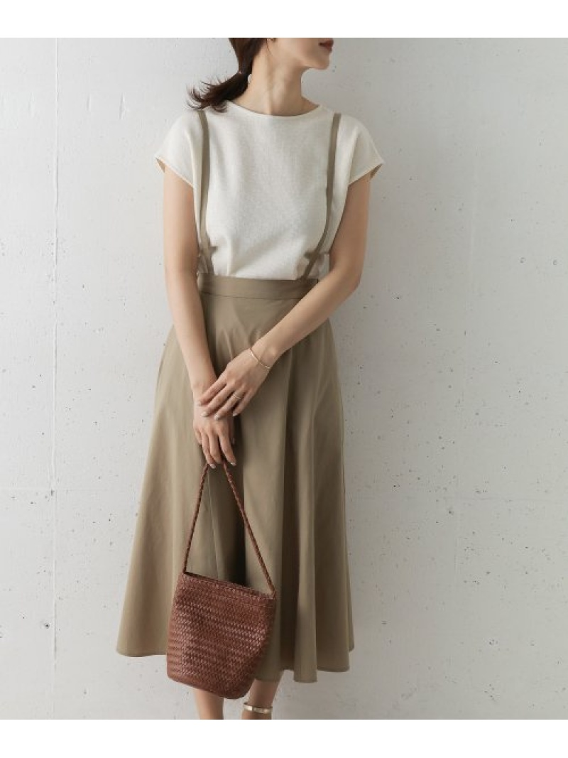 [Rakuten Fashion]サスペンダースカート DOORS アーバンリサーチドアーズ スカート スカートその他 ベージュ【送料無料】