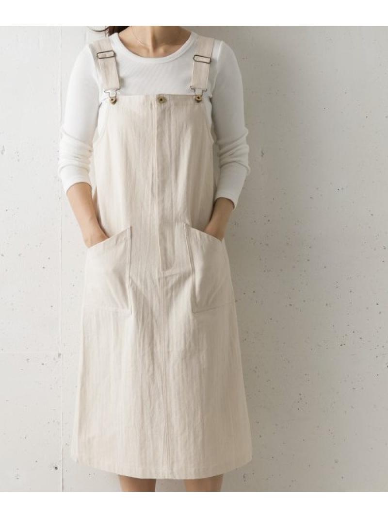 [Rakuten Fashion]【別注】UNIVERSALOVERALL×DOORSジャンパースカート DOORS アーバンリサーチドアーズ ワンピース ワンピースその他 ホワイト【送料無料】