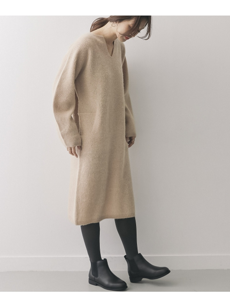 [Rakuten BRAND AVENUE]unfil undyed pure camel knit dress DOORS アーバンリサーチドアーズ ワンピース【送料無料】