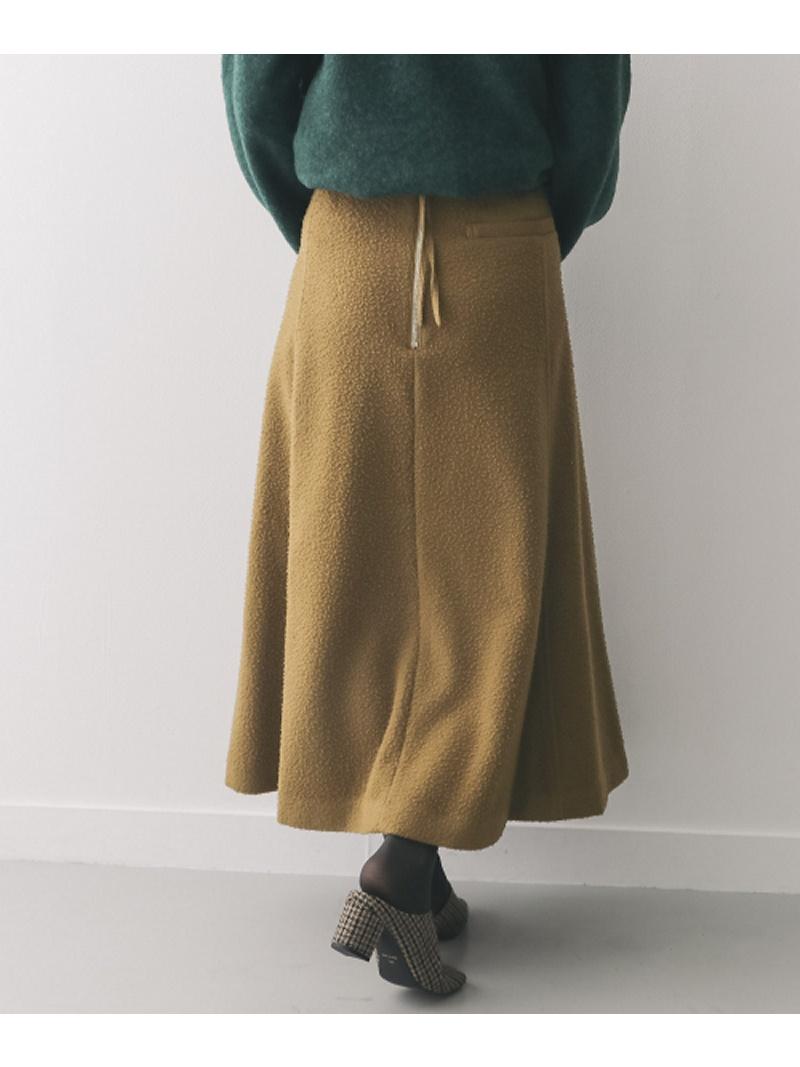 [Rakuten BRAND AVENUE]unfil napped woolmelton midi skirt DOORS アーバンリサーチドアーズ スカート【送料無料】