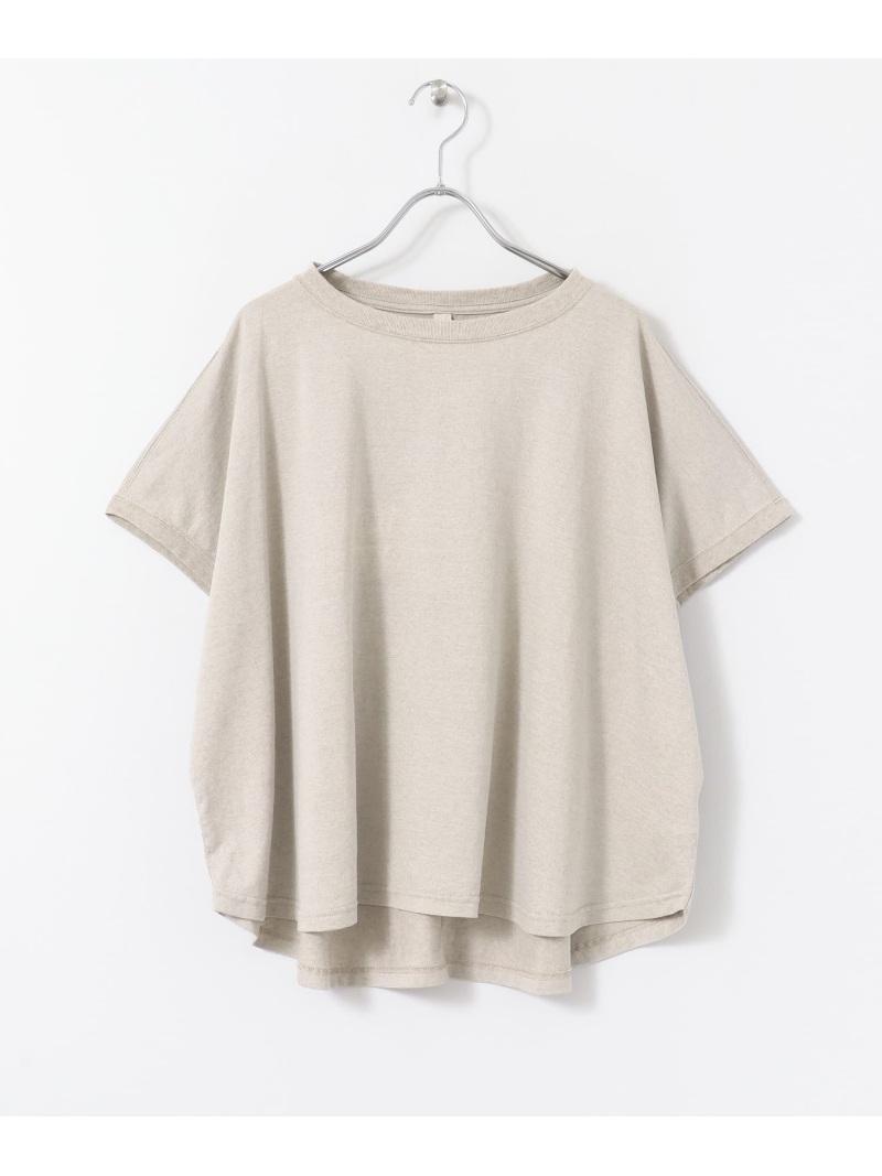 [Rakuten Fashion]siiwa麻混天竺ドロップワイドTシャツ DOORS アーバンリサーチドアーズ カットソー Tシャツ ホワイト【送料無料】