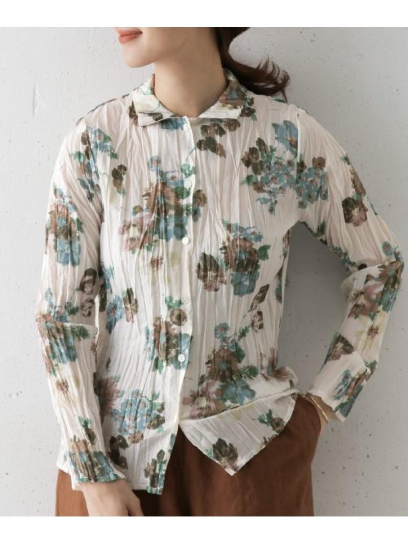 [Rakuten Fashion]mizuiroindflowerprintwashershirts DOORS アーバンリサーチドアーズ シャツ/ブラウス シャツ/ブラウスその他 ホワイト【送料無料】