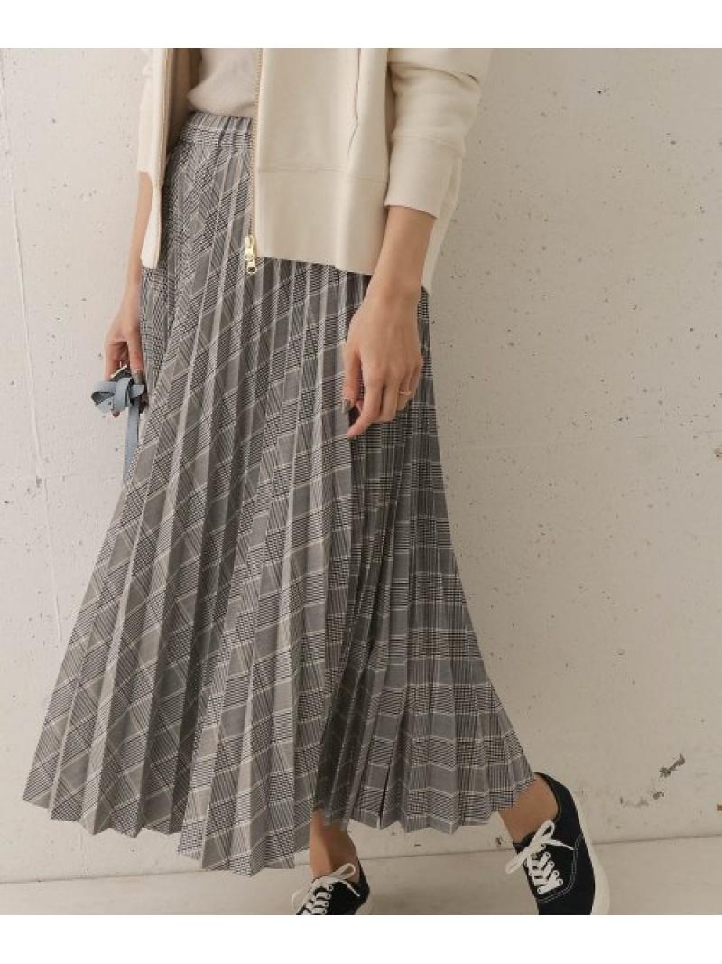 [Rakuten Fashion]【予約】チェックプリーツスカート DOORS アーバンリサーチドアーズ スカート スカートその他 グレー ベージュ【先行予約】*【送料無料】