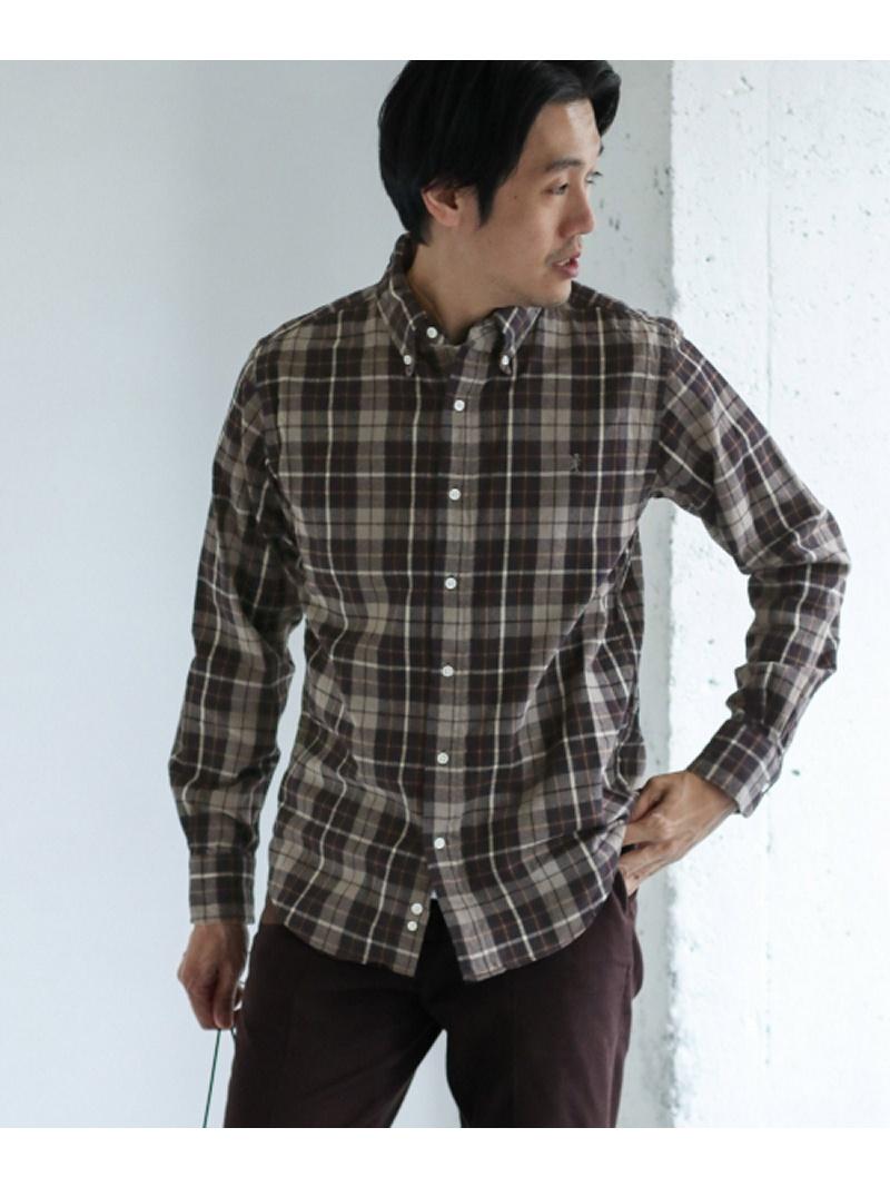 [Rakuten BRAND AVENUE]GYMPHLEX 60/2 ビエラ起毛チェックシャツ DOORS アーバンリサーチドアーズ シャツ/ブラウス【送料無料】