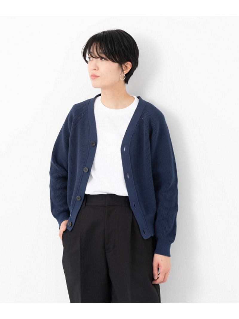 [Rakuten BRAND AVENUE]UNIFY V Neck Short Cardigan DOORS アーバンリサーチドアーズ ニット【送料無料】