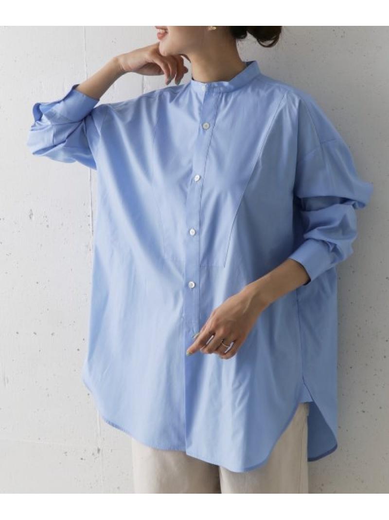 [Rakuten Fashion]TraditionalWeatherwearBIGTUCKUPNO/C DOORS アーバンリサーチドアーズ シャツ/ブラウス シャツ/ブラウスその他 ブルー ホワイト【送料無料】