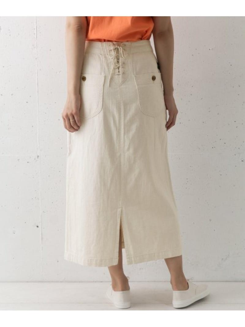 [Rakuten Fashion]DOORS×Lee別注マリンロングスカート DOORS アーバンリサーチドアーズ スカート スカートその他 ホワイト【送料無料】