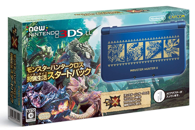 【中古】New ニンテンドー3DS LL 本体 モンスターハンタークロス 狩猟生活スタートパック RED-S-BBDF/ 中古 ゲーム