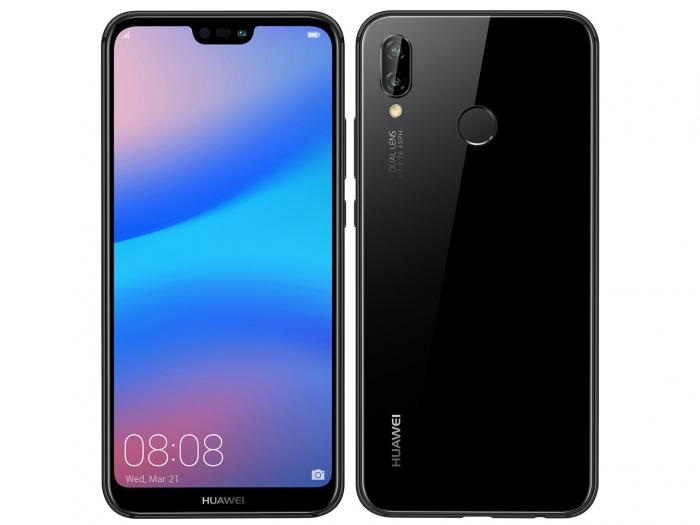 【中古】【白ロム】【Y!mobile】Huawei P20 lite Midnight Black ANE-LX2【未使用】【△判定】【送料無料】