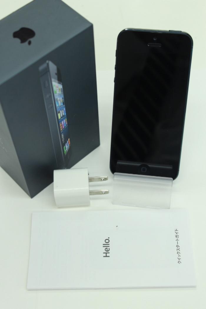 【中古】【白ロム】【SoftBank】iPhone5 64GB[ブラック&ストレート]【△判定】