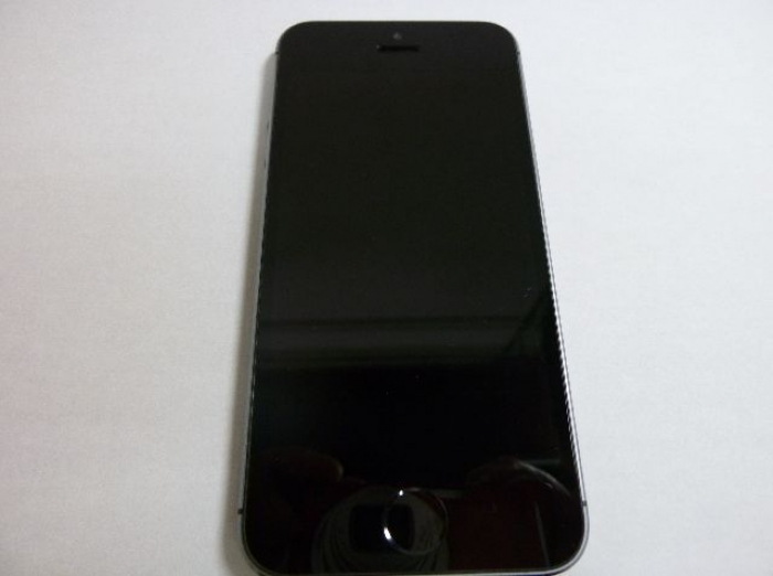 【中古】【白ロム】【au】iPhone5S 16GB[スペースグレイ]【○判定】