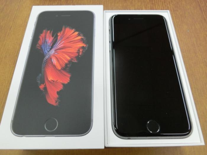 【中古】【白ロム】【国内SIMフリー】iPhone6S 128GB スペースグレイ【Bランク】【〇判定】