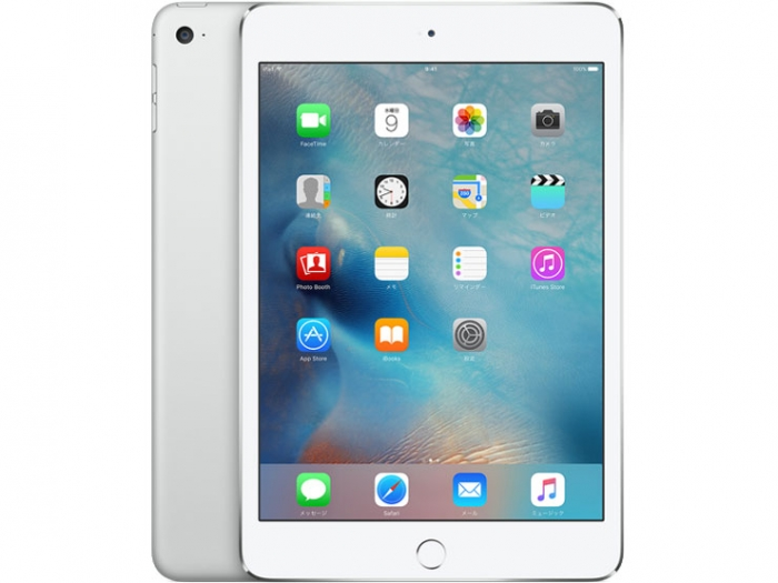 【中古】【白ロム】【au】iPad mini4 Wi-Fi+Cellular 16GB シルバー【ABランク】【△判定】【送料無料】