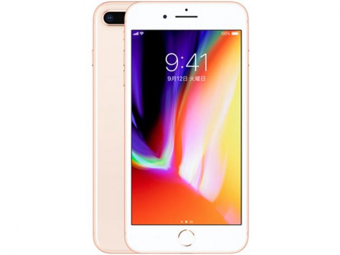 【中古】【白ロム】【au】iPhone8 Plus 64GB ゴールド【Cランク】【〇判定】【送料無料】