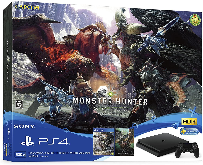 【エントリーでポイント10倍 11/21 9:59まで】【中古】 PlayStation4 MONSTER HUNTER: WORLD Value Pack PS4 本体 CUHJ-10026 / 中古 ゲーム
