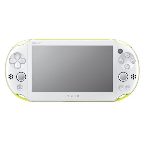 【中古】PSVita 本体 ライムグリーン ホワイト PCH-2000ZA13/ 中古 ゲーム