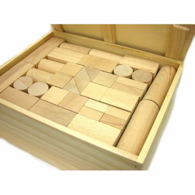 【訳あり】ウッディプッディ 木製玩具 ブナの木つみき(大) 白木 103ピース woodypuddy G03-1107