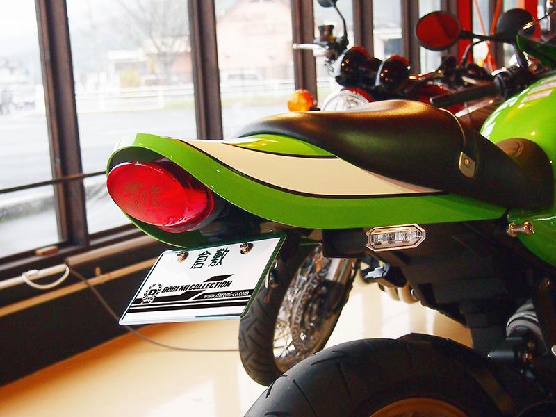 【ドレミコレクション】Z900RS用フェンダーレスキットZ1タイプテールカウル用純正ウインカー テールランプ仕様