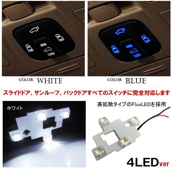 베르파이아 20계 알파드 20계 LED 천정 도어 스위치 도어 스위치 선택할 수 있는 2 타입 룸 램프 내장 커스텀 파트