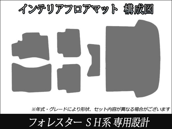 福里斯特SG SG5 SH SH5车底板垫黑灰格子花纹装修零件