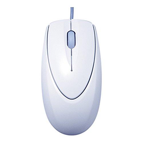 【新品】 iBUFFALO 光学式有線マウス USB接続 Lサイズ 白箱 RoHS対応 ライトグレー BOMULLGA