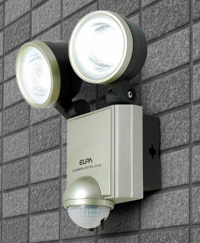 【新品】 ELPA 屋外用センサーライト AC電源 4wLED 2灯 ESL-402AC