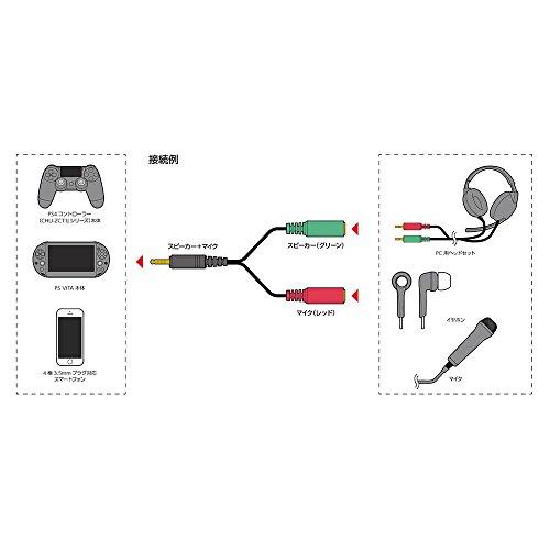 【新品】 【PS4 CUH-2000 対応】 CYBER ・ ヘッドセット変換ケーブル ( PS4 / PS Vita 用) ブラック