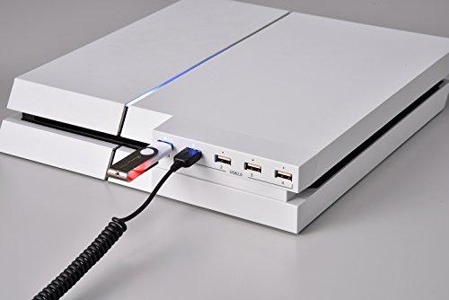 【新品】 PS4用 一体型5ポートUSBハブ ホワイト
