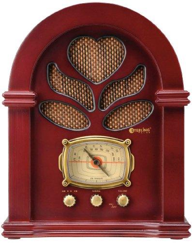 【新品】 スターリング 木製クラシックラジオ【昭和モダン】 5851