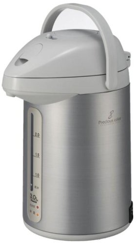 【新品】 ピーコック 電気保温エアーポット3.0L サテングレー WSP-30-HS