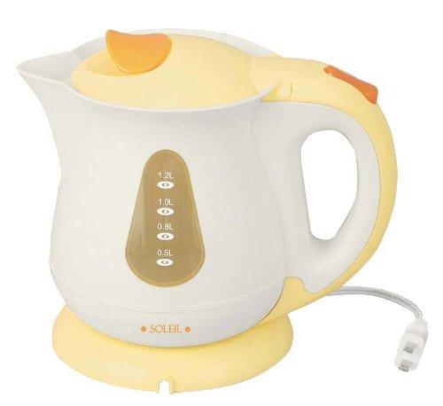 【新品】 SOLEIL(ソレイユ) 電気湯沸しケトルP 1.2L SL-27