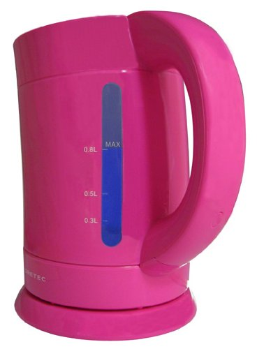 【新品】 ドリテック 電気ケトル 「バンブー」 0.8L ピンク PO-111PK