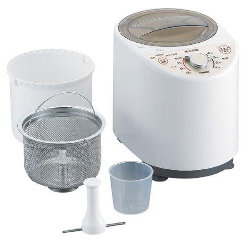 【新品】 ツインバード コンパクト精米器 ホワイト MR-E500W