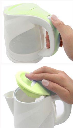 【新品】 ドリテック 電気ケトル 「リーフ」 1.0L グリーン PO-116GN