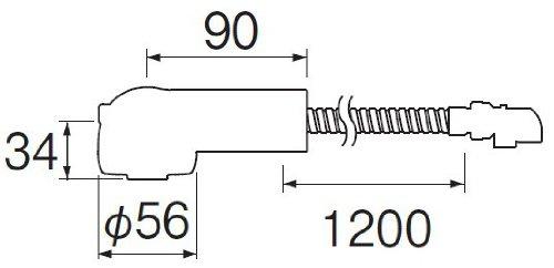 【新品】 三栄水栓 【キッチン用混合栓のシャワーヘッドとラセンホースのセット】 ラセンホース組品 K3761JV-W用 560N-S5-I