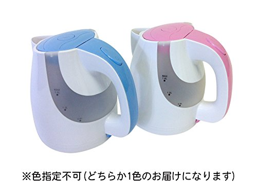 【新品】 藤昭 FUJI LIFE 電気ケトル LED Light 1.6L ブルーorピンク【色指定不可】