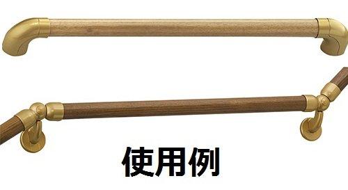 【新品】 三栄 ゴム集成材丸棒 ミディアムブラウン 長さ2M