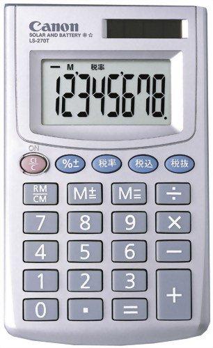 【新品】 CANON ミニ手帳タイプ電卓(名刺サイズ) 8桁 LS-270T